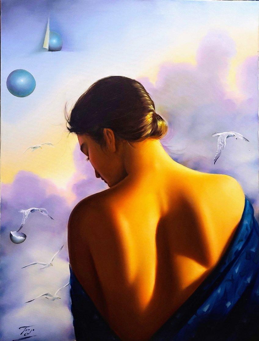 Thoughts of Love 1990 40x30 Huge Original Painting by (Fernando de Jesus Oliviera) Ferjo