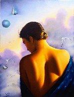 Thoughts of Love 1990 40x30 Huge Original Painting by (Fernando de Jesus Oliviera) Ferjo - 0
