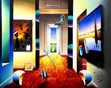 Dali's Escape 30x24 Original Painting - (Fernando de Jesus Oliviera) Ferjo