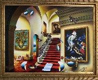 Stairway With Chagall And Van Gogh 40x30 Huge Original Painting by (Fernando de Jesus Oliviera) Ferjo - 2