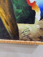 Untitled (Mona Lisa) 49x36 Super Huge Original Painting by (Fernando de Jesus Oliviera) Ferjo - 1