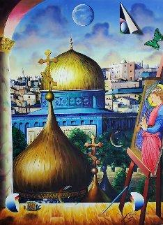 Jerusalem 2020 40x30 Original Painting - (Fernando de Jesus Oliviera) Ferjo