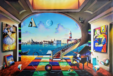 Venice 2020 50x70 Super Huge  Original Painting - (Fernando de Jesus Oliviera) Ferjo