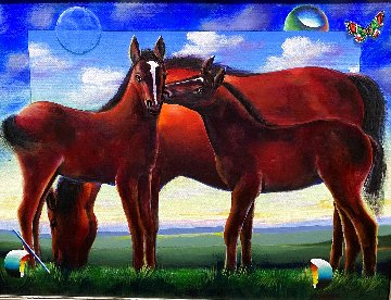 Untitled Horse Painting 2020 30x40 Original Painting - (Fernando de Jesus Oliviera) Ferjo
