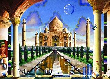 Taj Mahal 2020 70x50 Original Painting - (Fernando de Jesus Oliviera) Ferjo