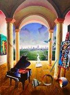 Distant City 40x30 Original Painting by (Fernando de Jesus Oliviera) Ferjo - 0