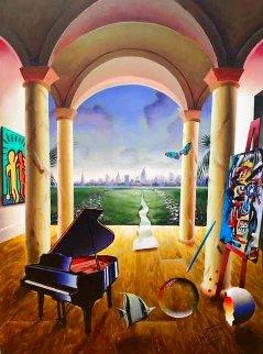 Distant City 40x30 Original Painting - (Fernando de Jesus Oliviera) Ferjo