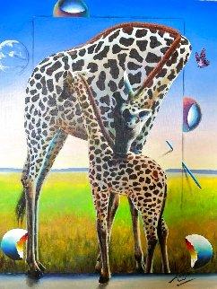 Maternal Instincts 30x24 Original Painting - (Fernando de Jesus Oliviera) Ferjo
