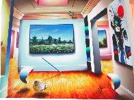 Miro Floral Meadow 30x40 Super Huge Original Painting by (Fernando de Jesus Oliviera) Ferjo - 1