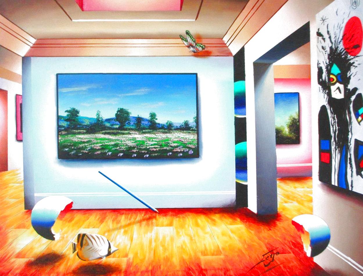 Miro Floral Meadow 30x40 Super Huge Original Painting by (Fernando de Jesus Oliviera) Ferjo