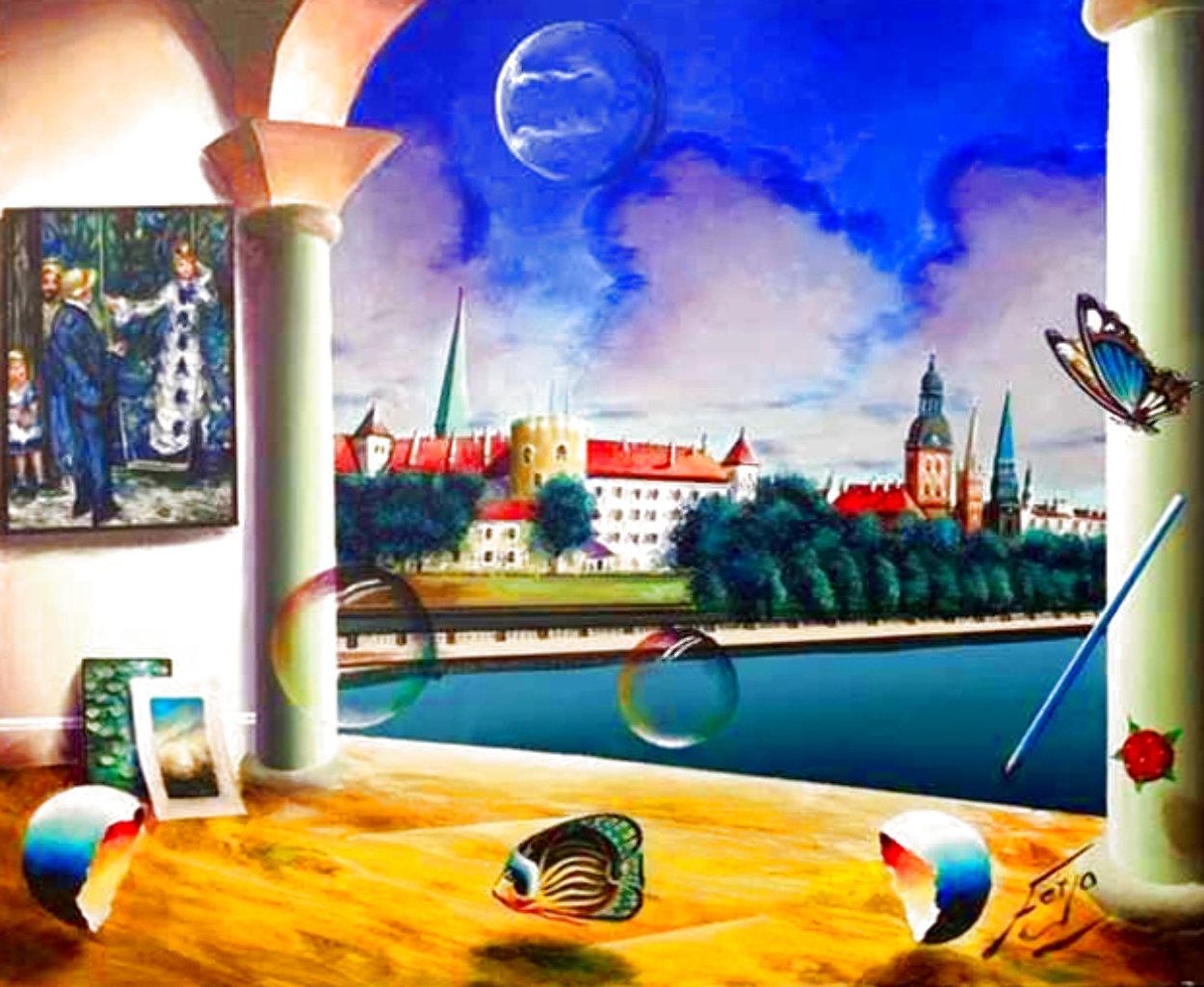 Peaceful Renoir 20x24 Original Painting by (Fernando de Jesus Oliviera) Ferjo