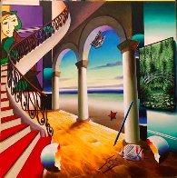Room By the Seashore 24x24 Original Painting by (Fernando de Jesus Oliviera) Ferjo - 1