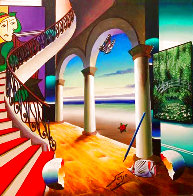 Room By the Seashore 24x24 Original Painting by (Fernando de Jesus Oliviera) Ferjo - 0