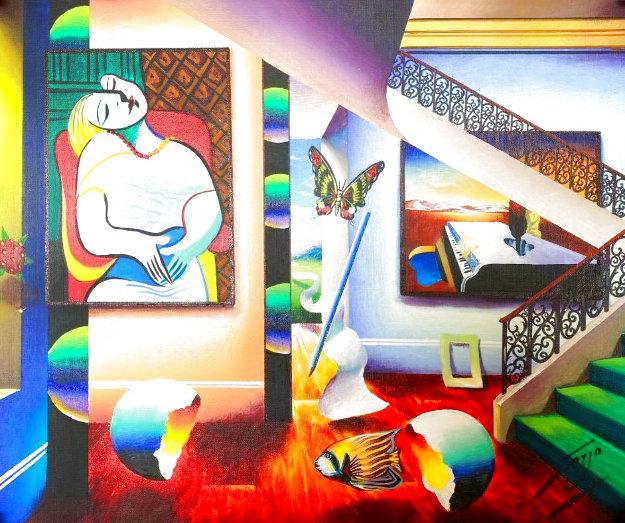 Sleeping Beauty 26x30 Original Painting by (Fernando de Jesus Oliviera) Ferjo