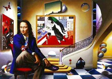 Mona With Chagall AP HS Limited Edition Print - (Fernando de Jesus Oliviera) Ferjo