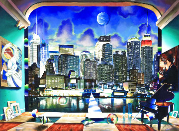 New York 50x70  Super Huge  Original Painting - (Fernando de Jesus Oliviera) Ferjo