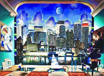 New York 50x70  Super Huge  Original Painting - (Fernando de Jesus Oliviera) Ferjo