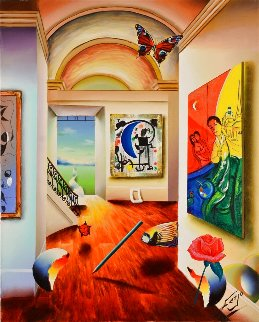 Magic Room 2008 30x24 Original Painting - (Fernando de Jesus Oliviera) Ferjo