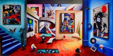 Gallery of the Masters 2002 48x98   Super Huge Original Painting - (Fernando de Jesus Oliviera) Ferjo