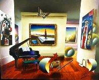 Room With the Masters 2007 32x26 Original Painting by (Fernando de Jesus Oliviera) Ferjo - 1
