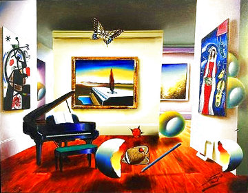 Room With the Masters 2007 32x26 Original Painting - (Fernando de Jesus Oliviera) Ferjo