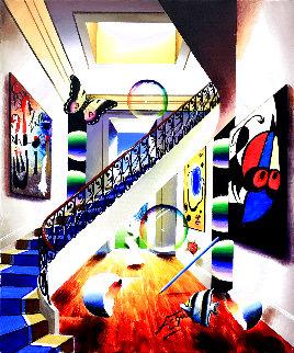 Tribute to Miro 20x16 Original Painting - (Fernando de Jesus Oliviera) Ferjo