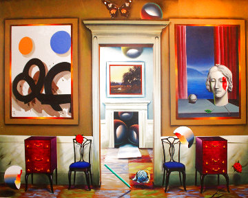 Dimensions of Home 2002 40x50 Huge Original Painting - (Fernando de Jesus Oliviera) Ferjo