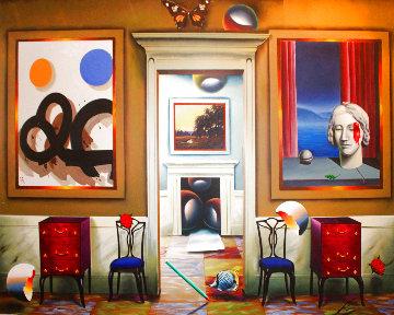 Dimensions of Home 2002 40x50 Super Huge Original Painting - (Fernando de Jesus Oliviera) Ferjo