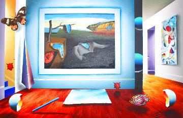 Time And Space 2002 24x36 Original Painting - (Fernando de Jesus Oliviera) Ferjo