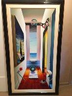 Untitled Surrealist Painting 2001 56x32 Super Huge Original Painting by (Fernando de Jesus Oliviera) Ferjo - 1