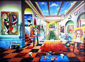 Past Meet Future 2021 80x60 Super Huge Original Painting - (Fernando de Jesus Oliviera) Ferjo