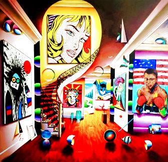 Looking At You Babe 2021 60x60 Super Huge Original Painting - (Fernando de Jesus Oliviera) Ferjo