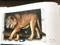 Behind the Lion 1991 51x70 Super Huge  Original Painting by (Fernando de Jesus Oliviera) Ferjo - 6