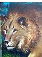 Behind the Lion 1991 51x70 Super Huge  Original Painting by (Fernando de Jesus Oliviera) Ferjo - 4
