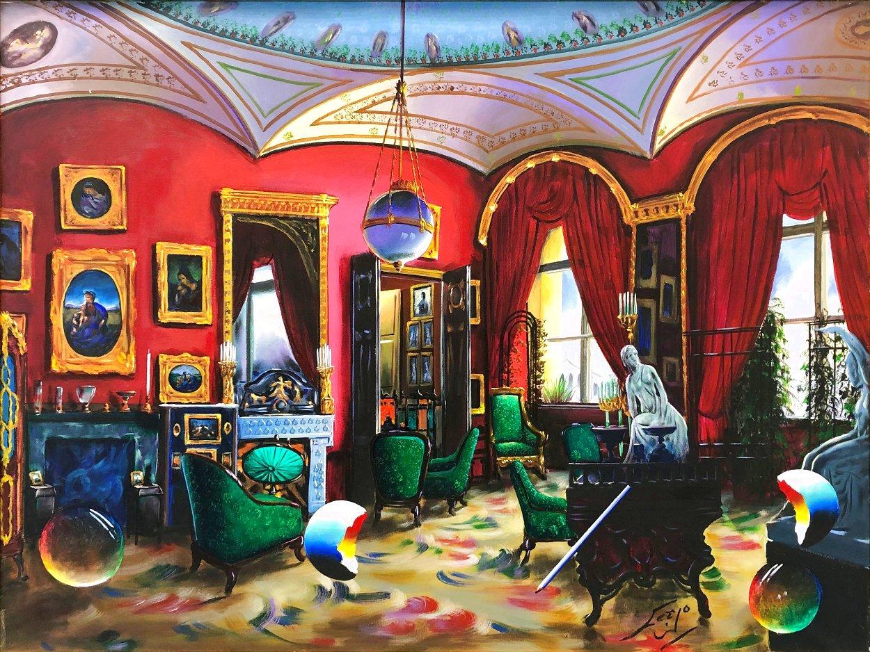 Surreal Room 30x40 Huge Original Painting by (Fernando de Jesus Oliviera) Ferjo