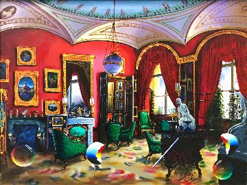 Surreal Room 30x40 Huge Original Painting - (Fernando de Jesus Oliviera) Ferjo