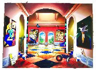 Grand Hallway 50x70 Huge Original Painting by (Fernando de Jesus Oliviera) Ferjo - 1
