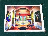 Grand Hallway 50x70 Huge Original Painting by (Fernando de Jesus Oliviera) Ferjo - 2