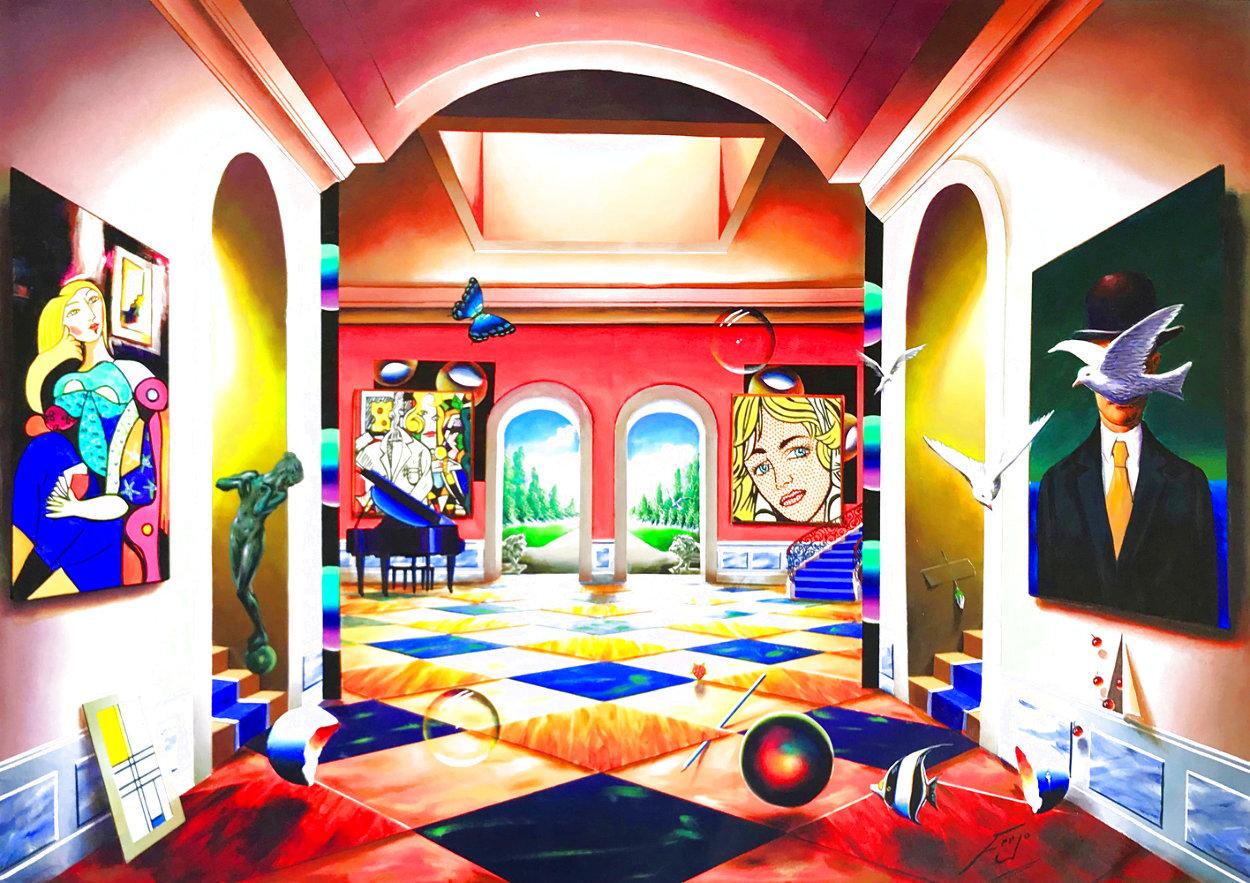 Grand Hallway 50x70 Huge Original Painting by (Fernando de Jesus Oliviera) Ferjo