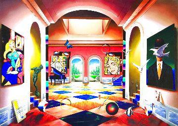 Grand Hallway 50x70 Huge Original Painting - (Fernando de Jesus Oliviera) Ferjo