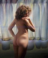 Untitled (Nude Model) 1980 48x40 Huge Original Painting by (Fernando de Jesus Oliviera) Ferjo - 0