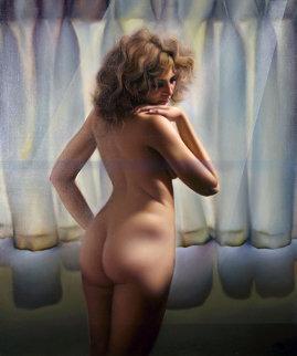 Untitled (Nude Model) 1980 48x40 Original Painting by (Fernando de Jesus Oliviera) Ferjo