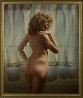 Untitled (Nude Model) 1980 48x40 Original Painting by (Fernando de Jesus Oliviera) Ferjo - 1