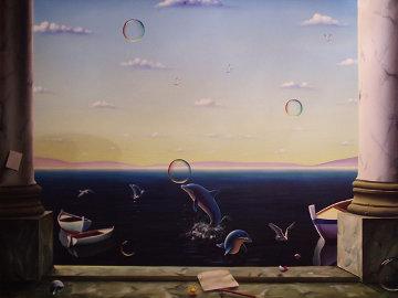 Pillars at Play 49x65 Original Painting - (Fernando de Jesus Oliviera) Ferjo