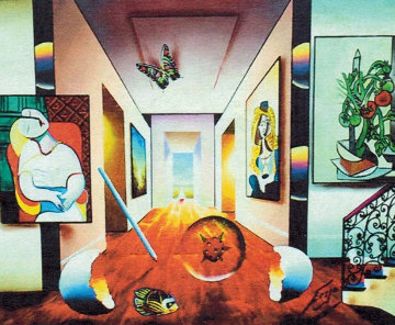 Picasso and Tomatoes 36x32 Original Painting - (Fernando de Jesus Oliviera) Ferjo