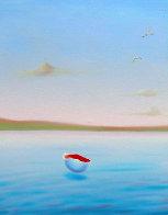 Blue Sea Triptych 22x72 Super Huge!  Original Painting by (Fernando de Jesus Oliviera) Ferjo - 1