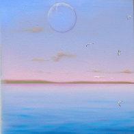 Blue Sea Triptych 22x72 Super Huge!  Original Painting by (Fernando de Jesus Oliviera) Ferjo - 2