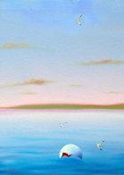 Blue Sea Triptych 22x72 Super Huge!  Original Painting by (Fernando de Jesus Oliviera) Ferjo - 3