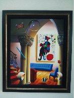 Untitled Interior  with Miro Painting 37x31 Original Painting by (Fernando de Jesus Oliviera) Ferjo - 1