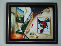 Untitled Interior with Artwork 39x49 Super Hge Original Painting by (Fernando de Jesus Oliviera) Ferjo - 1